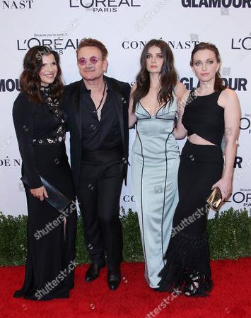 Stock Photo of Ali Hewson, Bono, Eve Hewson and Jordan Hewson