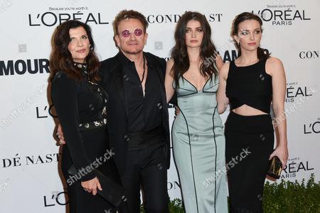 Eve Hewson, Bono, Jordan Hewson, and Alison Hewson