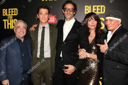 Martin Scorsese, Miles Teller, Ben Younger, Katey Sagal and Vinny Paz