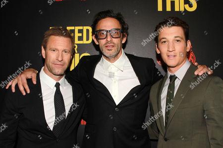 Aaron Eckhart, Ben Younger and Miles Teller