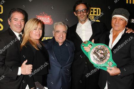 Chad Verdi, Michelle Verdi, Martin Scorsese, Ben Younger and Vinny Paz
