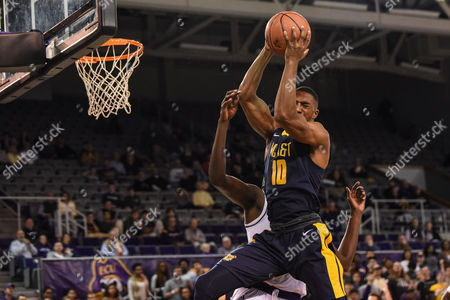 North Carolina A&T Aggies guard James Whitaker (10) grabs a rebound during the second half of the game between the North Carolina A&T Eagles and the East Carolina University Pirates at Williams Arena at Minges Coliseum, Greenville, NC. East Carolina defeated North Carolina A&T 61-51