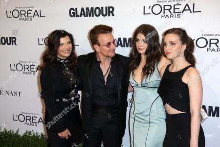 Alison Hewson, honoree Bono, actress Eve Hewson, and Jordan Hewson