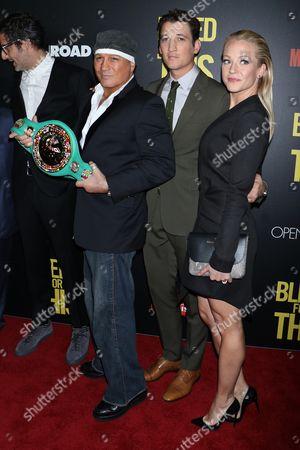 Vinny Paz, Miles Teller and Amanda Clayton