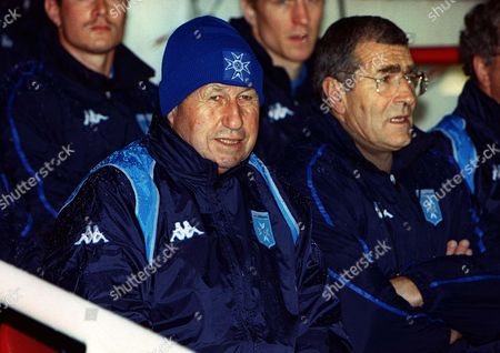 Guy Roux (Auxerre Manager in hat) Arsenal v Auxerre Champions League 22/10/2002 Great Britain London