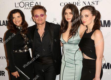 Alison Hewson, Bono, Eve Hewson, Jordan Hewson