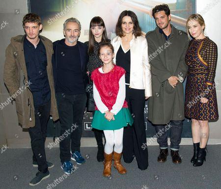 Niels Schneider, Angelin Preljocaj, Anastasia Shevtsova, Veronika Zhovnytska, Juliette Binoche, Neal Piron,Valerie Muller, (left to right)