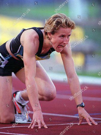 Stock Image of Katharine Merry (GBR) Womens 400m British Grand Prix Crystal Palace 22/7/01 Great Britain London