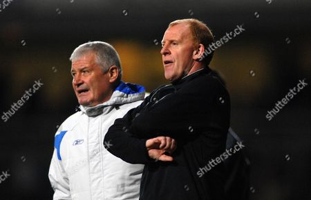 Gary Megson (Bolton Manager) with Assistant coach Archie Knox West Ham United v Bolton Wanderers 4/11/2007