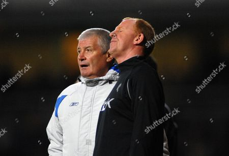 Gary Megson (Bolton Manager) shows his frustration with Assistant coach Archie Knox West Ham United v Bolton Wanderers 4/11/2007