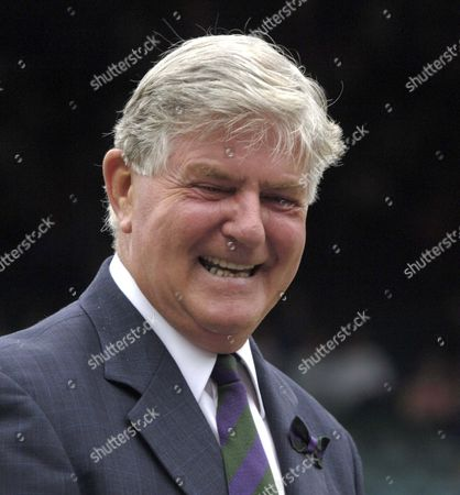Stock Picture of Alan Mills (Referee) Ladies Doubles Final 3/7/2005 Centre Court Wimbledon Tennis Championships 2005