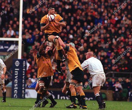 John Eales (Australia) England v Australia Twickenham 18/11/2000 Great Britain London