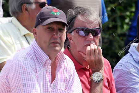 Cricket - LV County Championship Division One - Lancashire vs Durham Liverpudlian and football pundit Mark Lawrenson enjoys the cricket with a friend at Liverpool Cricket Club