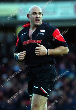 Craig Quinnell (Saracens) Saracens v Leicester 27/10/2002 Great Britain London