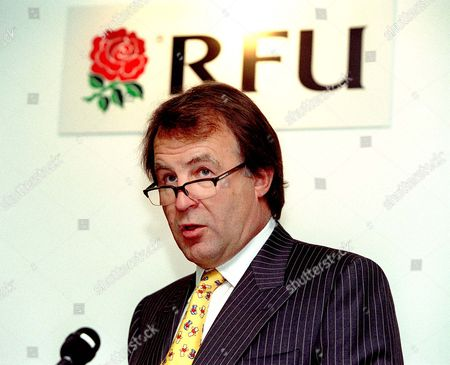 Francis baron the RFU Chief Executive RFU Press Conference to unvail the Redevelopment Plans for the South Stand at Twickenham Twickenham 10/9/02 Great Britain London