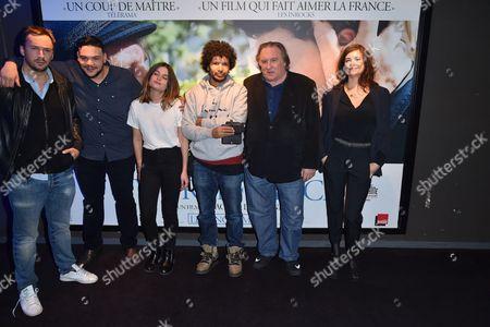 Sadek, Louise Grinberg, Rachid Djaidani and Gerard Depardieu