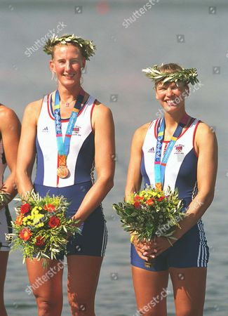 Sarah Winckless and Elise Laverick (GBR) Bronze Medalists Womens Double Sculls Rowing Final 21/8/2004 Athens Olympics 2004