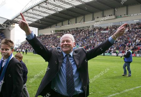 David Whelan (Wigan Chairman) celebrates promotion Wigan Athletic v Reading 8/5/2005