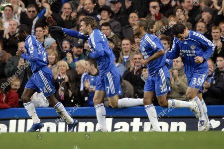 Stock Picture of Andriy Schevchenko (Chelsea) celebrates after scoring the first goal Chelsea Vs Sunderland Barclays Premier League Stamford Bridge 08/12/2007