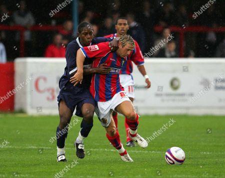 GLEN SOUTHAM ( DAGENHAM ) FRANK MOUSSA ( SOUTHEND ) DAGENHAM AND REDBRIDGE FC v SOUTHEND UNITED TIM COLE TESTIMONIAL 23/07/2007