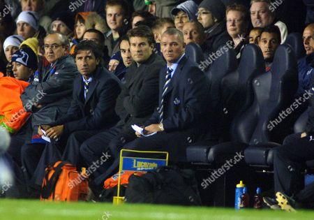 John Jensen (Getafe Coach) with Michael Laudrup Tottenham Hotspur v Getafe UEFA Cup 25/10/2007 White Hart Lane