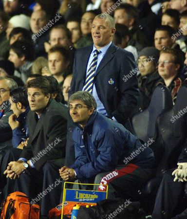 John Jensen (Getafe Coach) Michael Laudrup Tottenham Hotspur v Getafe UEFA Cup 25/10/2007 White Hart Lane