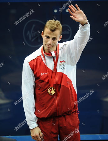 Squash - 2014 Glasgow Commonwealth Games - Day Five Men's Singles Medal Presentation England's gold medal-winner Nick Matthew at Scotstoun Sports Campus
