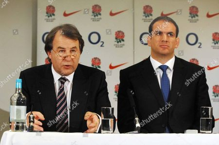 Francis Baron (Chief Executive) Martin Johnson (New England Rugby Union coach) Martin Johnson Press Conference 18/4/2008 Twickenham