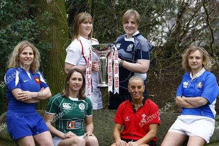 BACK ROW LEFT TO RIGHT CATHERINE SPENCER ( ENGLAND ) ILLY McCORD ( SCOTLAND ) LEFT TO RIGHT FRONT ROW ESTELLE SARTINI ( FRANCE ) SARAHJANE BELTON ( IRELAND ) NON EVANS ( WALES ) J PAOLA EANGIROLAMI ( ITALY ) RBS 6 NATIONS LAUNCH AT THE HURLINGHAM CLUB RENELAGH GARDENS LONDON 23/01/2008 LONDON