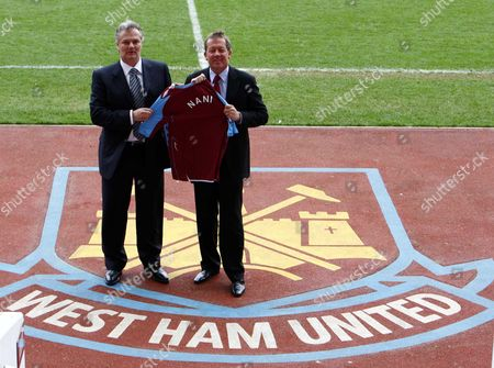 Alan Curbishley ( West Ham Manager ) with Gianluca Nani New Technical Director for West Ham United Press Conference at Upton Park 17/03/2008 ENGLAND LONDON