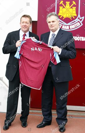 ALAN CURBISHLEY with Gianluca Nani New Technical Director for West Ham United Press Conference at Upton Park 17/03/2008 ENGLAND LONDON