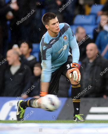 Football - 2012 / 2013 Premier League - Chelsea vs West Ham United Raphael Spiegel - WHU goalkeeper at Upton Park