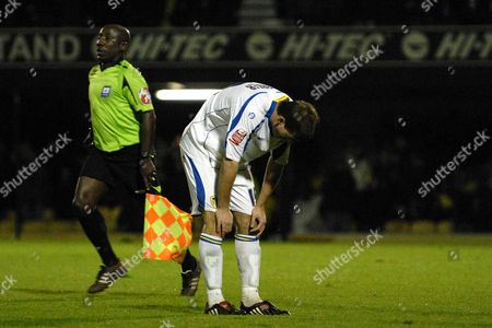 Ben Parker (Leeds) looks dejected at the final whistle Southend United Vs Leeds United Coca Cola League 1 Roots Hall Southend 28/10/08