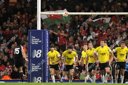 James Pritchard (Canada and Bedford) converts a try Wales Vs Canada Autumn International Friendly The Invesco Perpetual Series Millennium Stadium Cardiff 14/11/08