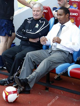 Paul Ince ( Blackburn manager ) with Archie Knox (assistant) West Ham United v Blackburn Rovers at Upton Park Barclays Premiership 30th August 2008 England London
