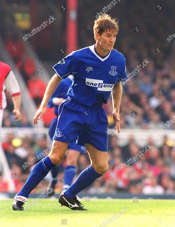 Richard Gough (Everton) Arsenal v Everton 16/10/2000