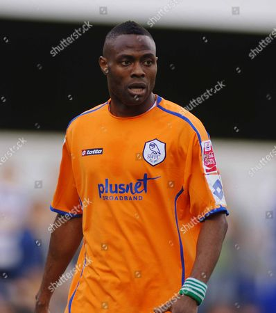 Akpo Sodje (Sheffield Wednesday) Queens Park Rangers v Sheffield Wednesday 13/04/2009 :