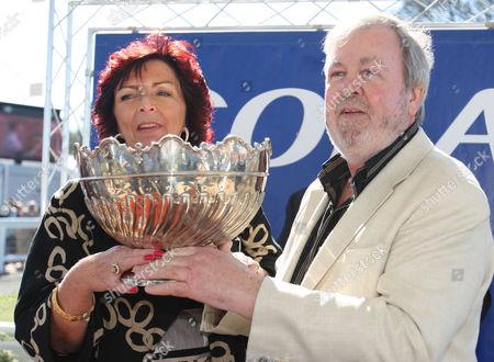 Scottish Grand National Ayr Race Course Winner 'Hello Bud' s owner Seamus Murphy 18/04/2009