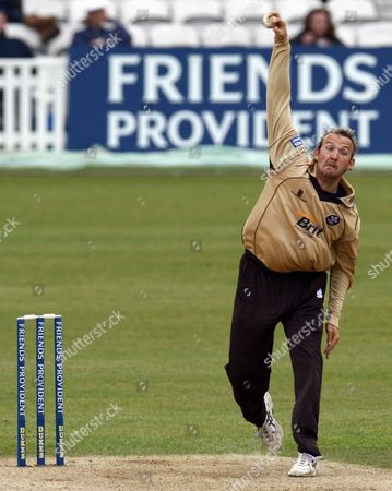 Chris Schofield of Surrey County Cricket Friends Provident Trophy Group C Surrey Brown Cap v Gloucestershire Gladiators at The Brit Oval 13/05/2009