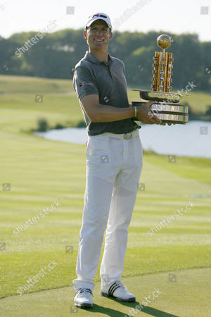 Stock Image of Golf Christian Cevaer winner of The European Open The London Golf Club 31/05/2009
