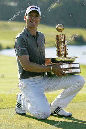 Stock Photo of Golf Christian Cevaer winner of The European Open The London Golf Club 31/05/2009