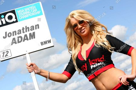 Jonathan Adam grid girl British Touring Car Thruxton 26/04/2009 England London