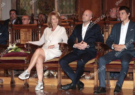Danny Cruyff and Jordi Cruyff attend the Golden Medal of Merit for Johan Cruyff Event