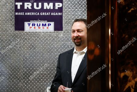 Jason Miller Jason Miller, a senior adviser to President-elect Donald Trump looks out from the elevator at Trump Tower, in New York. AP Photo/Carolyn Kaster