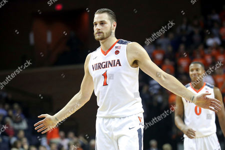 Virginia forward Austin Nichols (1) plays during an NCAA college basketball game on in Charlottesville, Va. Virginia defeated St. Francis (N.Y.) 72-32