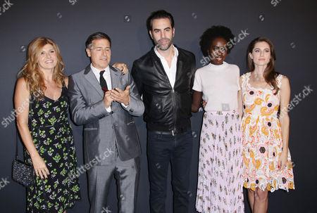 Connie Britton, David O Russell, Sacha Baron Cohen. Kuoth Wiel and Allison Williams