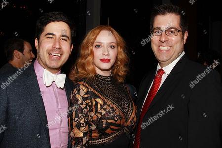 Daniel Hammond, Christina Hendricks and Dylan Wiley