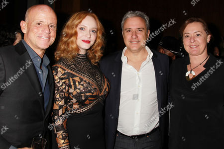 Stock Photo of David McCay, Christina Hendricks, Jean Martial Ribes and Zanne Devine