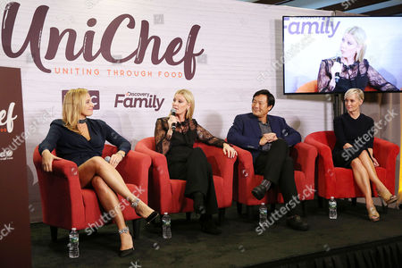 Onatella Arpaia, Sandra Lee, Ming Tsai, Hilary Gumbel Restaurateur Donatella Arpaia, celebrity chef Sandra Lee, chef Ming Tsai and Hilary Gumbel attend the premiere event of TLC and Discovery Family's UniChef: Uniting Through Food at Unicef House on in New York