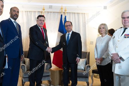 Fayez Mustafa Sarraj and Francois Hollande